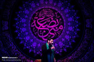 عکس/ عزاداری شهادت حضرت زهرا(س) در هیئت ریحانة الحسین