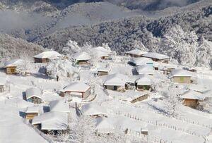 عکس/ نمای برفی ارتفاعات تالش