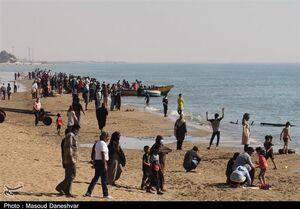 عکس/ هجوم مسافر به سواحل بندرعباس