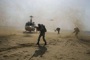 عکس/ عملیات هلیبرن تیپ واکنش سریع ارتش