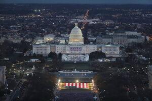 عکس/ مراسم تحلیف ترامپ و بایدن در یک قاب