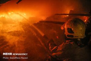 مهار آتشسوزی در خیابان شوش