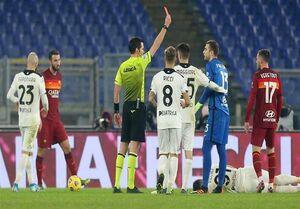 جام حذفی ایتالیا| رم با ۲ اخراجی در وقتهای اضافه حذف شد