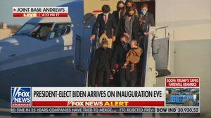 عکس/ خانواده بایدن به واشنگتن رسیدند