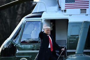 عکس/ ترامپ کاخ سفید را ترک کرد