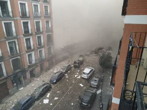 انفجار مهیب در مادرید اسپانیا