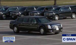 عکس/ خودرو جوبایدن هنگام ورود به مراسم تحلیف