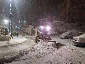 بارش برف در شهر تاریخی ماسوله