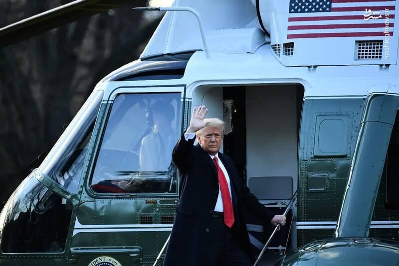 ترامپ پس از برگزاری مراسم خداحافظیاش بدون شرکت در مراسم تحلیف بایدن، عازم مرکز تفریحی خود میشود.