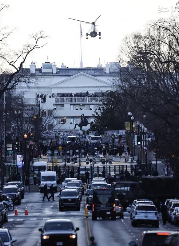 مسدود کردن خیابان های اطراف کاخ سفید توسط نیروهای امنیتی