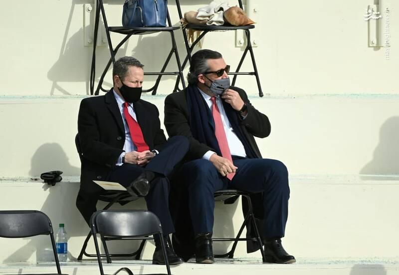 سناتور جمهوری خواه تد کروز در مراسم تحلیف بایدن
