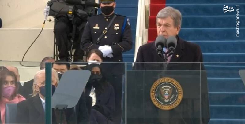 سخنرانی روی بلونت سناتور جمهور خواه از ایالت میسوری در مراسم تحلیف بایدن