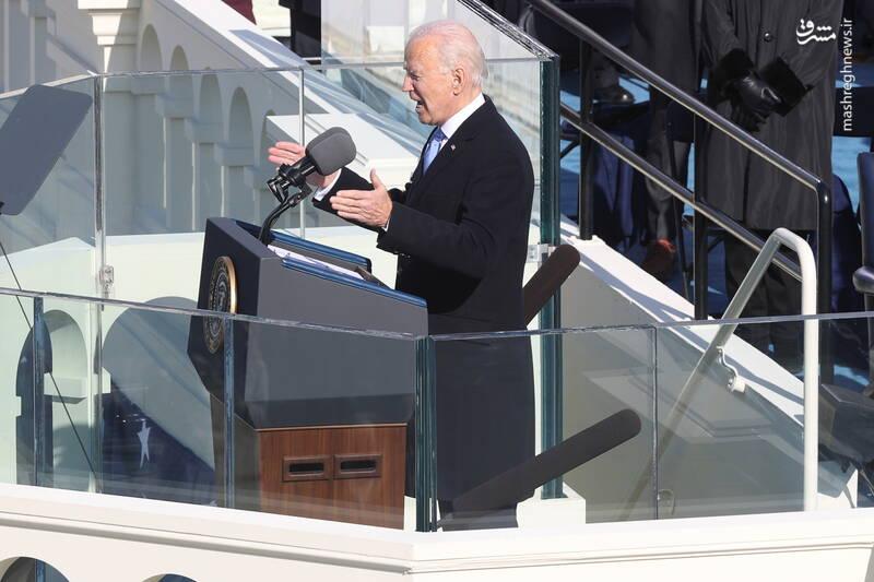 اولین سخنرانی جو بایدن به عنوان رییس جمهور آمریکا