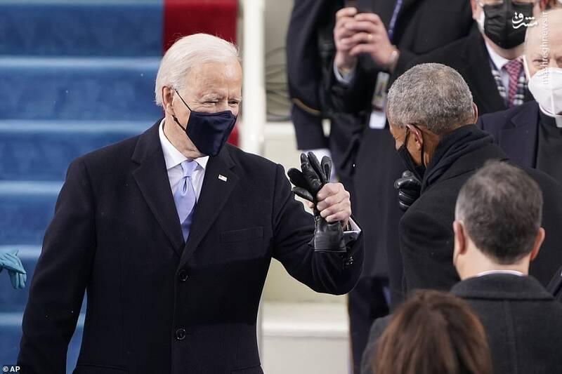 خوش و بش کرونایی بایدن و اوباما