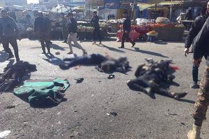 اجساد قربانیان انفجار بغداد