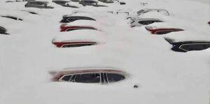 توقف تبادل تجاری ایران و اربیل با بارش برف +عکس