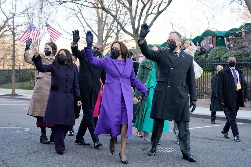 همراهی خانواده هریس تا ورود به کاخ سفید