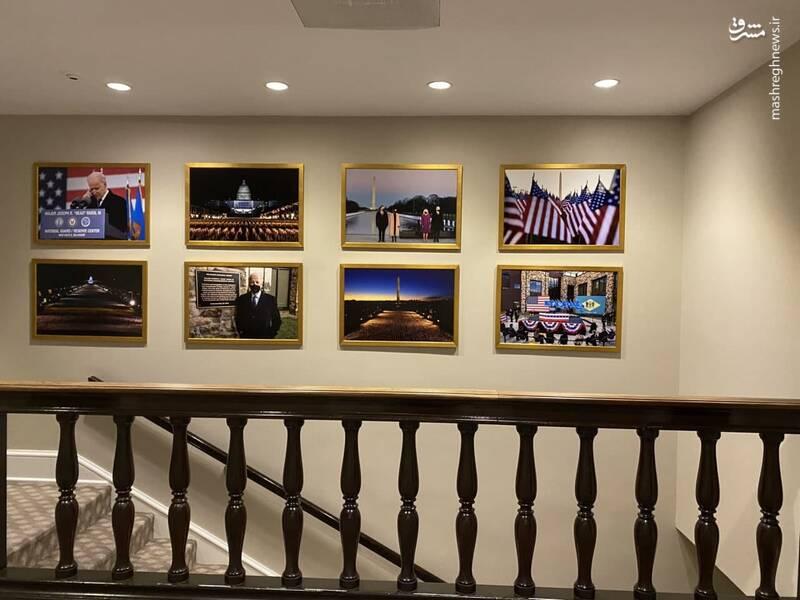 عکسهایی که قاب شدهاند و در همین ساعات در کاخ سفید به دیوار زده شدهاند
