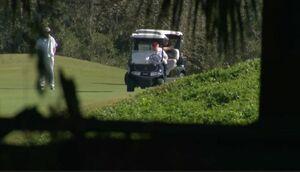 اولین تصویر از ترامپ در ویلای فلوریدا