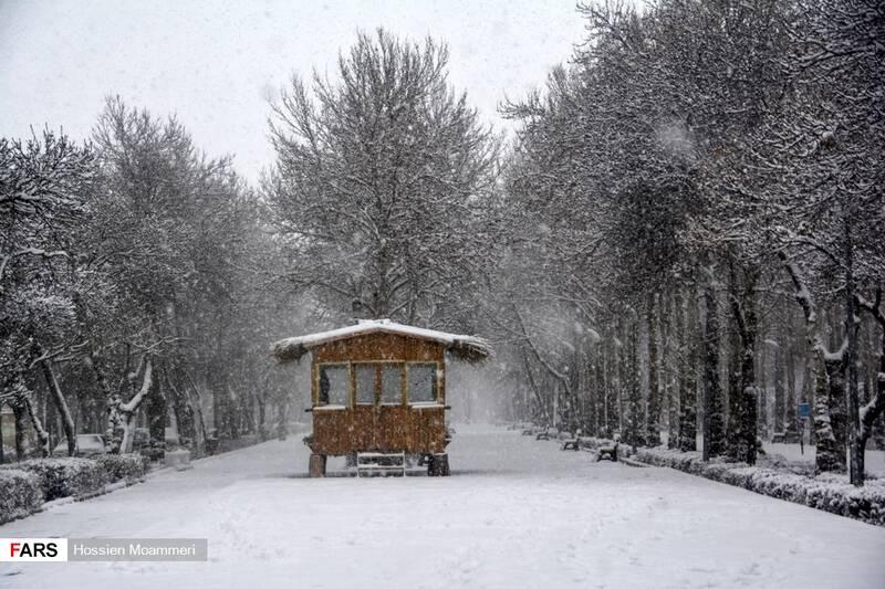 برف شدید در بجنورد