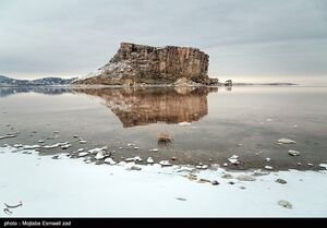 عکس/ طبیعت زمستانی دریاچه ارومیه