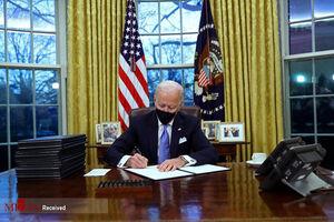 عکس/ جو بایدن دفتر کارش را چید!