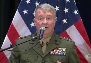 سفر فرمانده تروریستهای آمریکایی در منطقه به سرزمین اشغالی با محوریت ایران