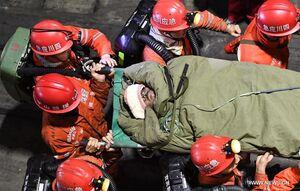 تصاویر | عملیات امداد و نجات کارگران معدنچی چینی