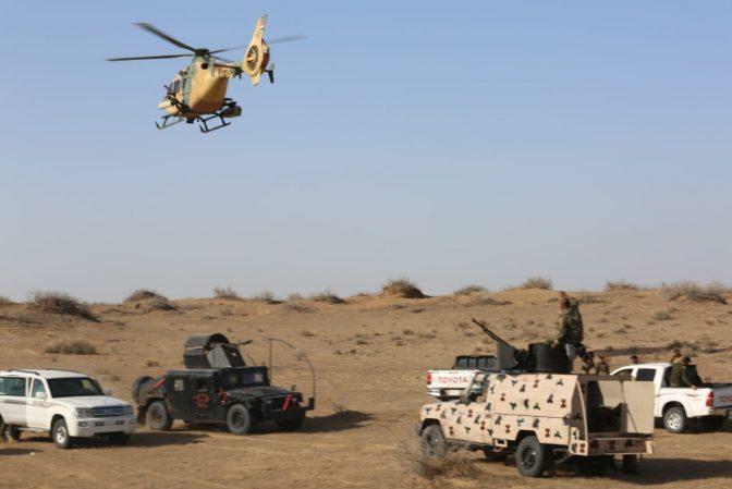 انهدام  ۵ مخفیگاه داعش توسط حشدالشعبی