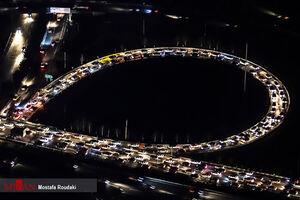 عکس/ قانون منع تردد زیر چرخ خودروها