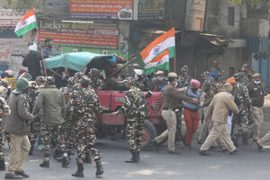 اعتراضات گسترده کشاورزان هندی