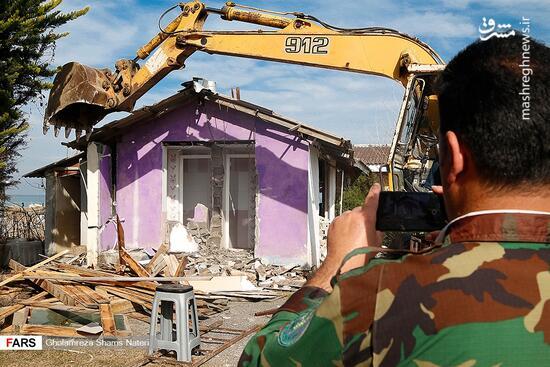 فیلم/ تخریب ویلای دو مسئول در فیروزکوه