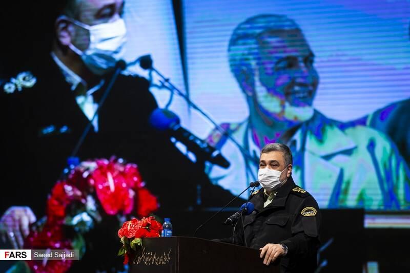 سخنرانی سردار حسین اشتری فرمانده کل ناجا در نخستین مراسم سالگرد شهادت شهید اصغر پاشاپور