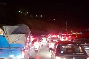ترافیک سنگین در محور چالوس