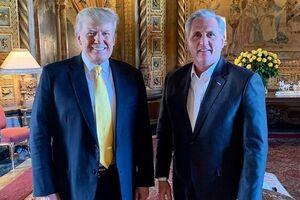 دیدار رهبر جمهوریخواهان مجلس نمایندگان آمریکا با ترامپ - کراپشده