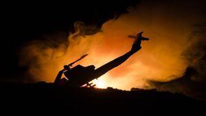 کشته شدن ۹ نظامی ترکیه در سقوط بالگرد