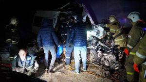 عکس/ تصادف مرگبار به دلیل لغزندگی جاده