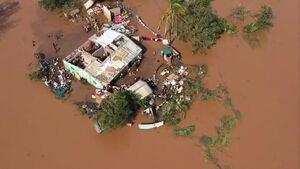 عکس/ وقوع سیلاب در موزامبیک