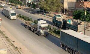 کاروان ائتلاف آمریکایی در عراق باز هم هدف انفجار قرار گرفت