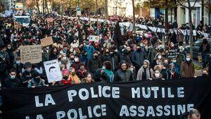 تظاهرات مخالفان طرح امنیتی در فرانسه