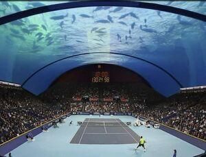 زمین تنیس زیرآب در دوبی واقعی بود؟
