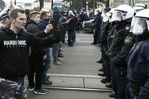 اعتراض علیه محدودیتهای کرونا در وین +عکس