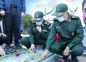پرچم «حاج قاسم» برافراشته خواهد ماند/ محور مقاومت مسیر نابودی رژیم صهیونیستی را در پیش میگیرد +عکس