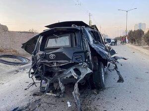 عکس/ انفجار در مسیر خودرو رییس دفتر وزیر صلح در کابل