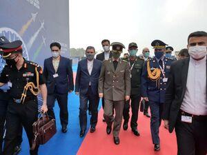 عکس/ حضور وزیر دفاع در هند