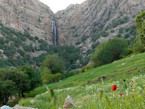 عکس/ آبشار ۳۵متری روستای بهرام بیگی