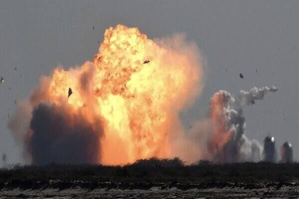 نمونه اولیه موشک «استارشیپ» دوباره منفجر شد