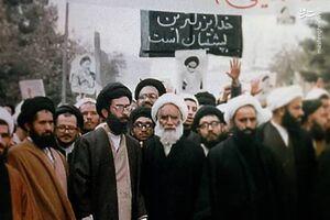 تصویر دیدهنشده از رهبر انقلاب در جریان تظاهرات علیه رژیم پهلوی