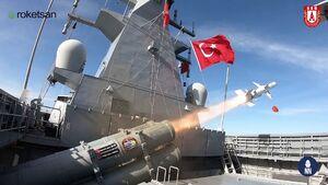 فیلم/ آزمایش موشک ضد کشتی بومی ترکیه