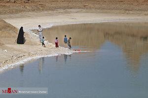 پرسهی کرونا در ساحل دریاچه شهداد